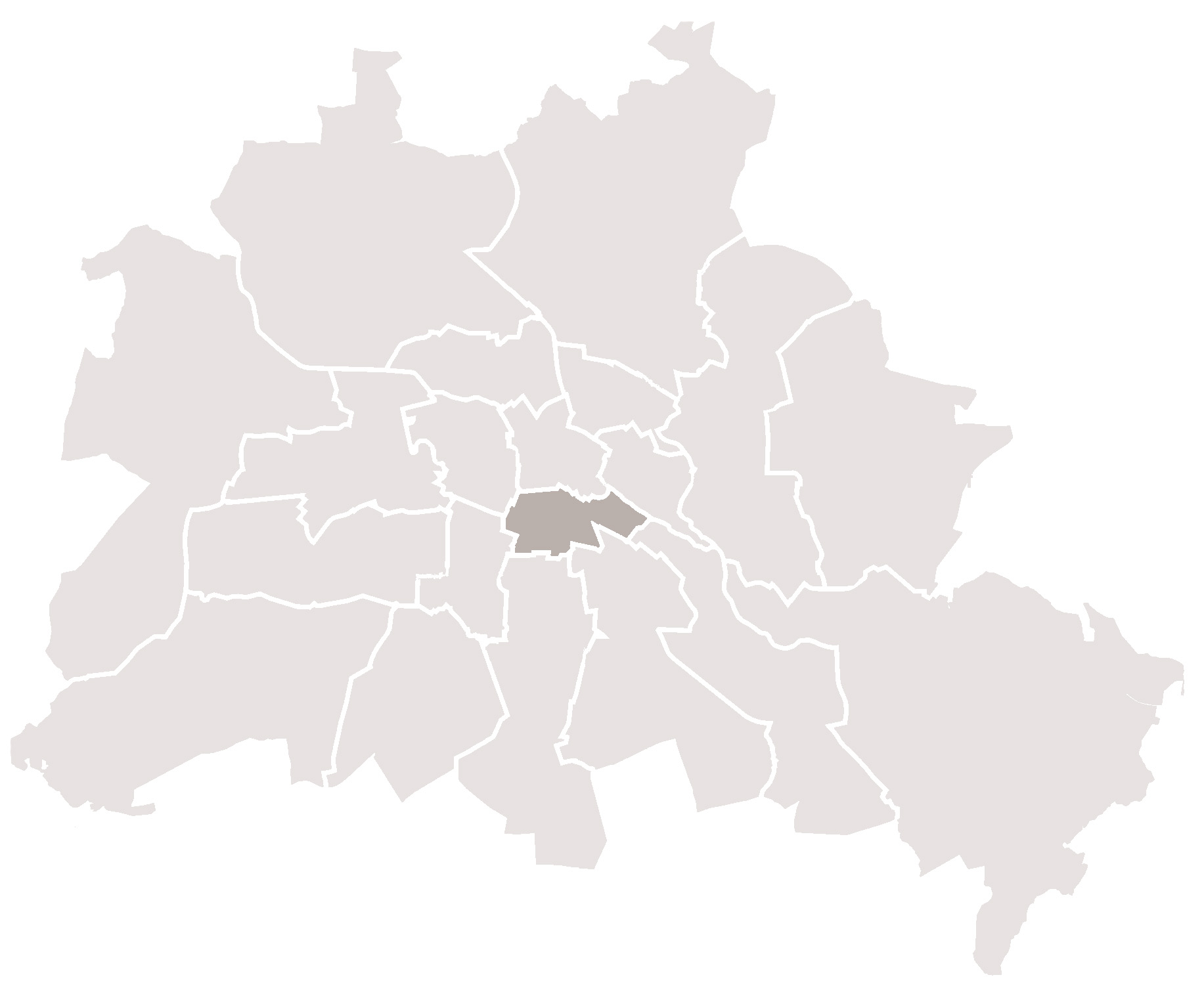 Karte Berlin Kreuzberg