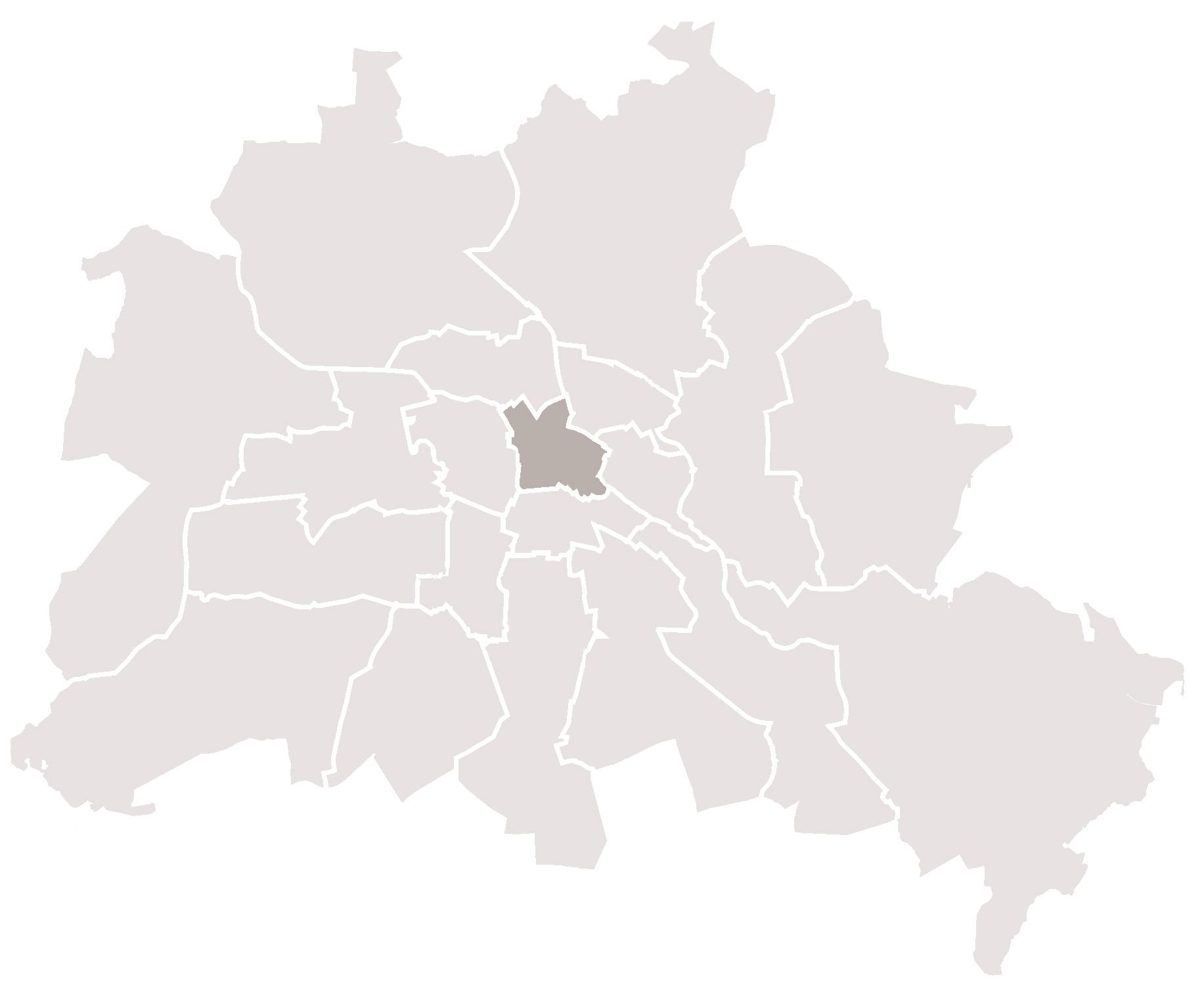 Karte Bezirk Mitte